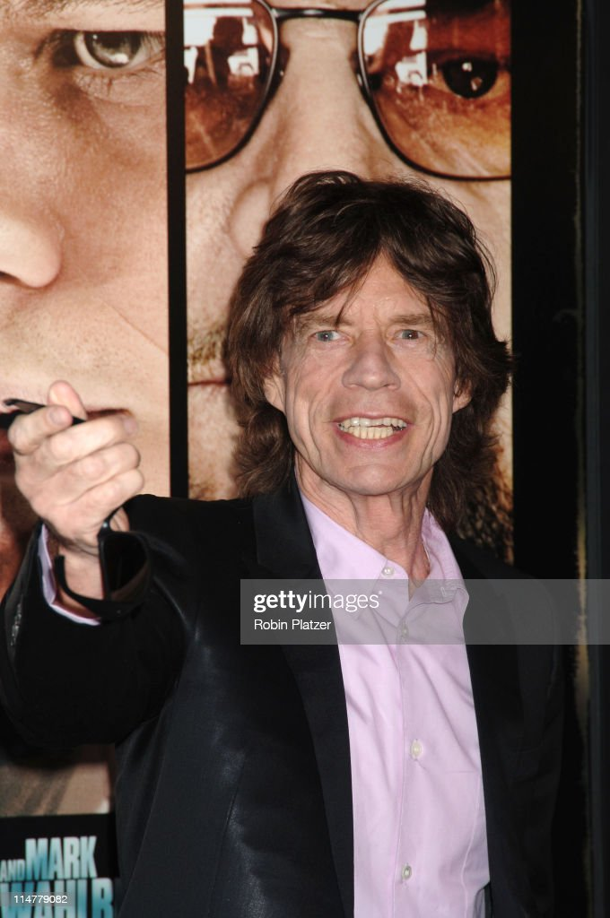 Mick Jagger during 'The Departed' New York City Premiere at Ziegfeld Theater in New York City, New York, United States.