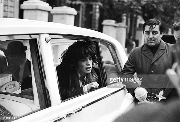 Mick Jagger in Notting Hill London during filming of Donald Cammell and Nicolas Roeg's psychological thriller 'Performance' 29th October 1968 The...