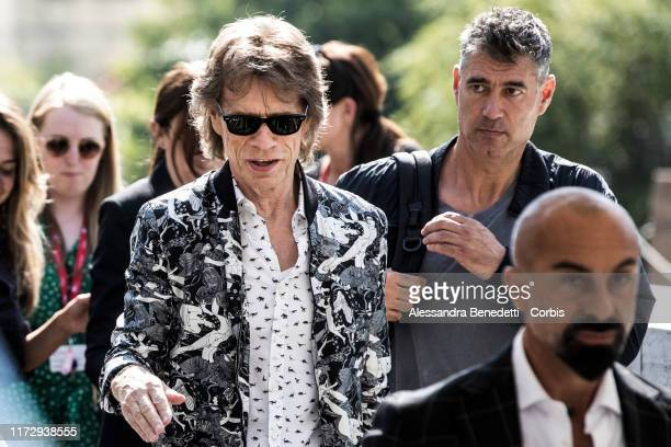 Mick Jagger is seen arriving at the 76th Venice Film Festival on September 07 2019 in Venice Italy