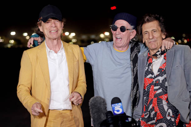 CA: The Rolling Stones Arrive At Burbank Airport