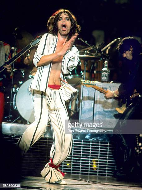 Mick Jagger Keith Richards performing at Madison Square Garden NYC June 24 1975