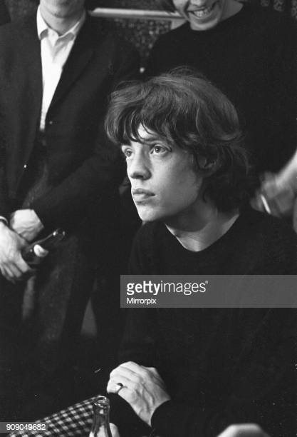 Mick Jagger lead singer with The Rolling Stones seen here backstage following the Stones concert at Regal Cinema, Cambridge on October 15, 1965.