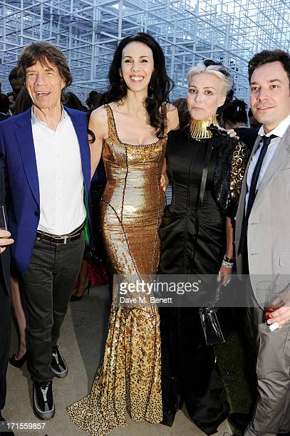 Mick Jagger L'Wren Scott Daphne Guinness and Jimmy Fallon attend the annual Serpentine Gallery Summer Party cohosted by L'Wren Scott at The...