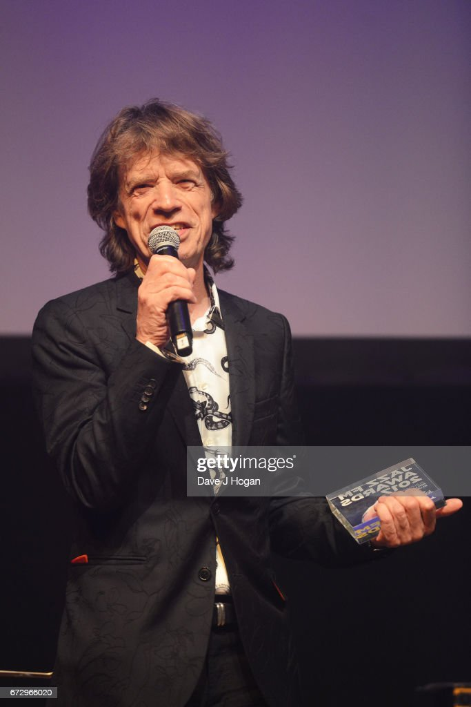 Mick Jagger of The Rolling Stones accepts the award for Album Of The Year: Public Vote for their album 'Blue & Lonesome' at the Jazz FM Awards 2017 at Shoreditch Town Hall on April 25, 2017 in London, United Kingdom.