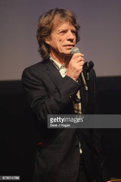 Mick Jagger of The Rolling Stones accepts the award for Album Of The Year Public Vote for their album 'Blue Lonesome' at the Jazz FM Awards 2017 at...