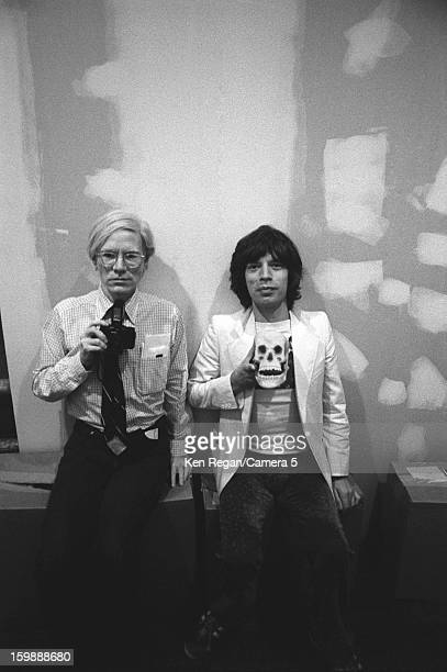 Mick Jagger of the Rolling Stones and artist Andy Warhol are photographed in 1977 in New York City CREDIT MUST READ Ken Regan/Camera 5 via Contour by...
