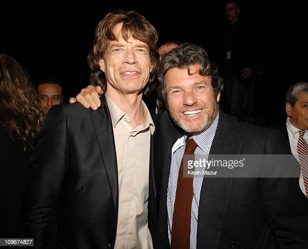 Mick Jagger of the Rolling Stones and Jann Wenner of Rolling Stone magazine
