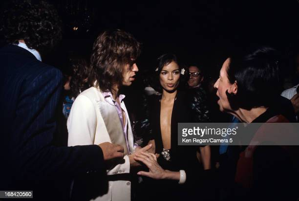 Mick Jagger of the Rolling Stones Bianca Jagger and Diana Vreeland are photographed on July 27th 1972 in New York City CREDIT MUST READ Ken...