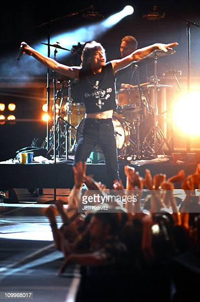 Mick Jagger of the Rolling Stones during 1994 MTV Video Music Awards at Radio City Music Hall in New York City New York United States