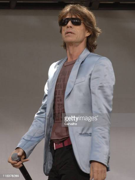 Mick Jagger of The Rolling Stones during Rolling Stones Kick Off World Tour with a Surprise Performance in New York City - May 10 2005 at Julliard...