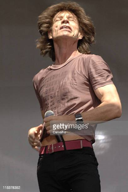 Mick Jagger of The Rolling Stones during Rolling Stones Kick Off World Tour with a Surprise Performance in New York City May 10 2005 at Julliard...