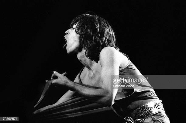Mick Jagger of the Rolling Stones in concert at Knebworth 21st August 1976