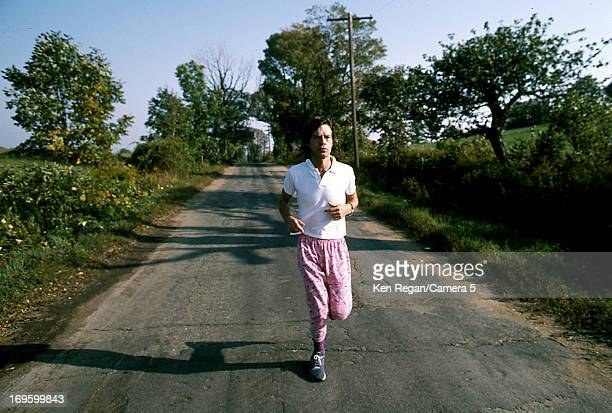Mick Jagger of the Rolling Stones is photographed at Longview Farm in September 1981 in Worcester Massachusetts CREDIT MUST READ Ken Regan/Camera 5...