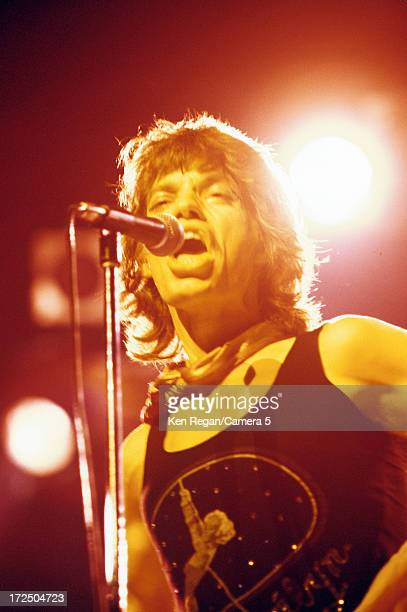 Mick Jagger of the Rolling Stones is photographed on stage in the 1970's CREDIT MUST READ Ken Regan/Camera 5 via Contour by Getty Images