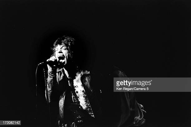 Mick Jagger of the Rolling Stones is photographed on stage on his birthday in 1972 at Madison Square Garden in New York City CREDIT MUST READ Ken...