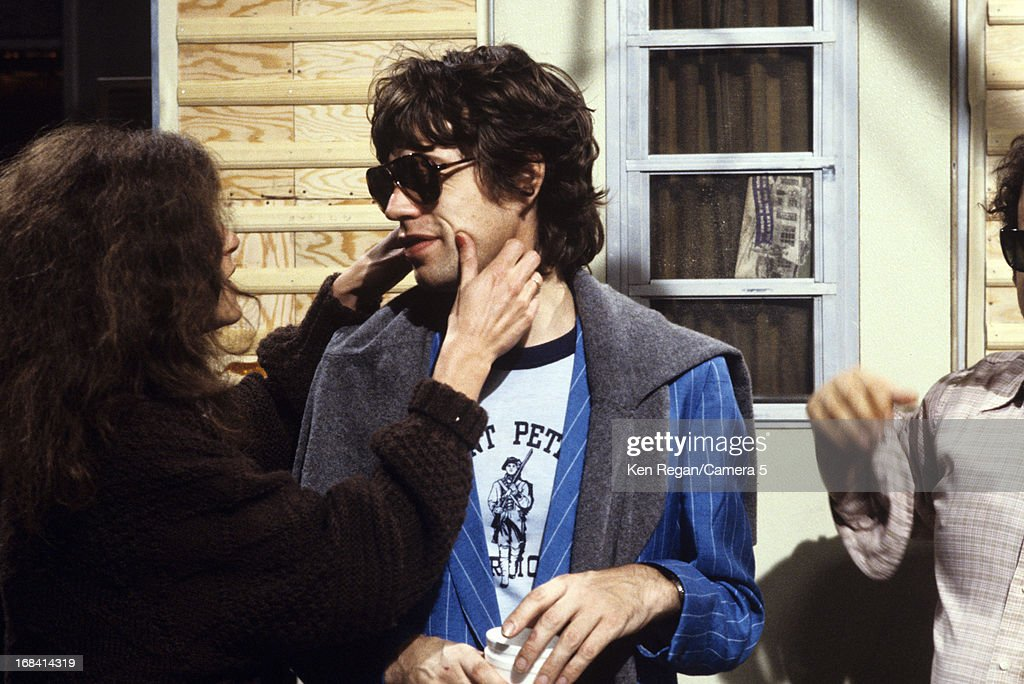 Mick Jagger of the Rolling Stones is photographed on the set of Saturday Night Live on October 7, 1978 in New York City.