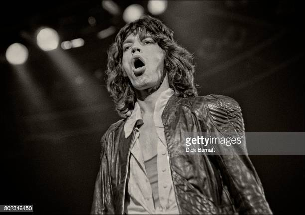 Mick Jagger of The Rolling Stones performing on stage Earls Court London 1976