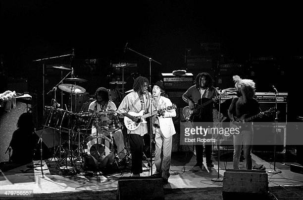 Mick Jagger of the Rolling Stones performing with Peter Tosh at The Palladium in New York City on June 19 1978