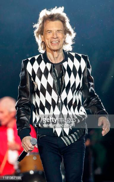 TOPSHOT Mick Jagger of the Rolling Stones performs as they resume their No Filter Tour North American Tour at the Soldier Field on June 21 2019 in...
