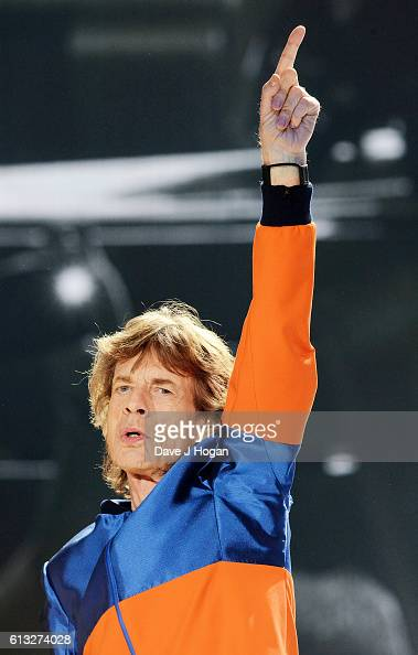 Mick Jagger of The Rolling Stones performs during day 1 of