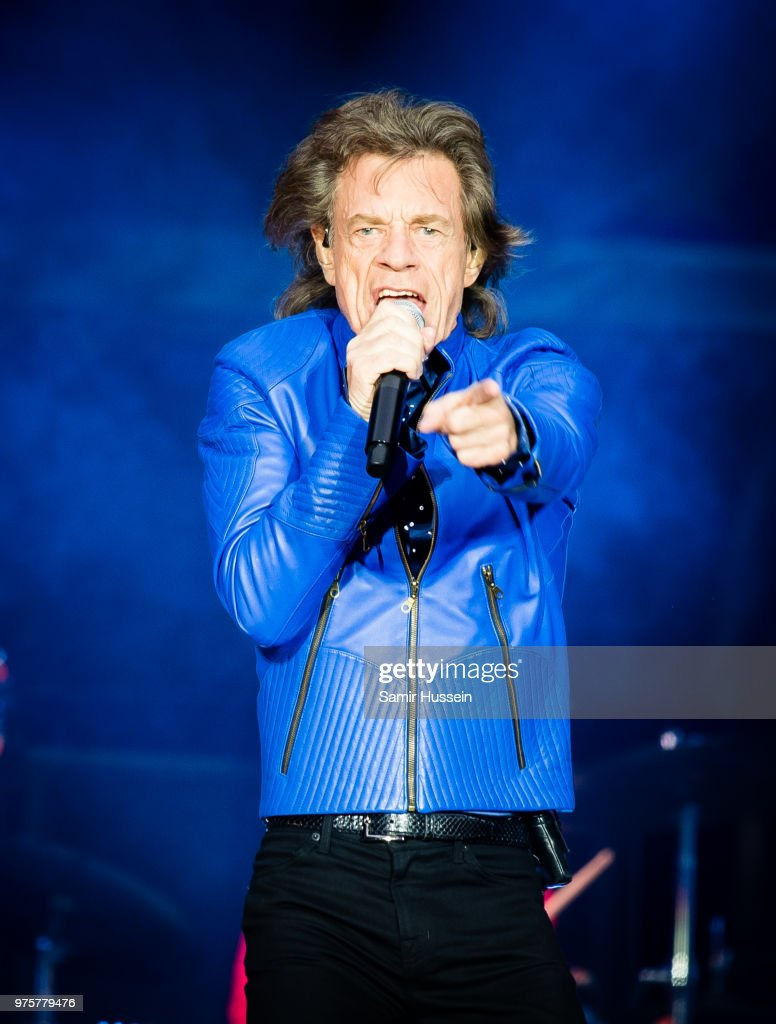 Mick Jagger of The Rolling Stones performs live on stage at Principality Stadium on June 15, 2018 in Cardiff, Wales.