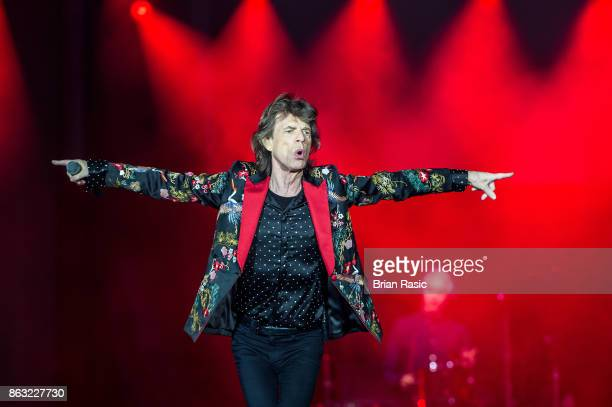 Mick Jagger of The Rolling Stones performs live on stage at U Arena on October 19 2017 in Nanterre France