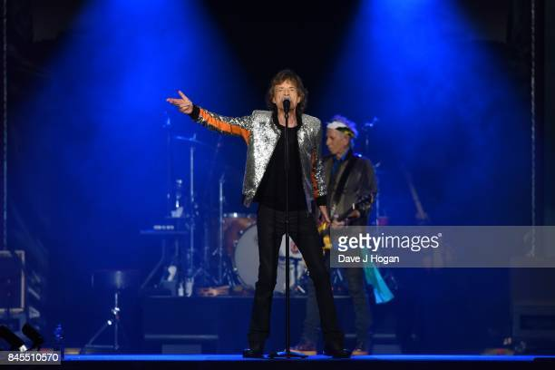 Mick Jagger of The Rolling Stones perform/s on the opening night of their European 'No Filter' tour on September 9 2017 in Hamburg Germany