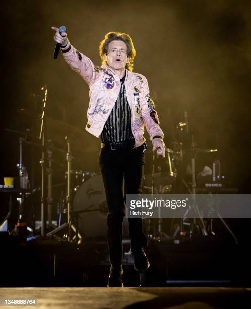 Mick Jagger of The Rolling Stones performs onstage at SoFi Stadium on October 14, 2021 in Inglewood, California.