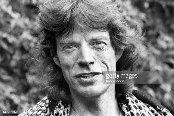Mick Jagger of the Rolling Stones poses for a portrait session around the release of his second solo album 'Primitive Cool' at the Amstel Hotel...