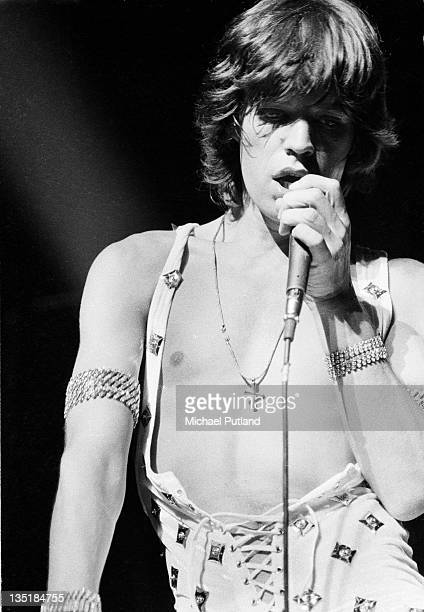 Mick Jagger performs on stage on the first night of the Rolling Stones' 1973 European World Tour Stadthalle Vienna Austria 1st September 1973