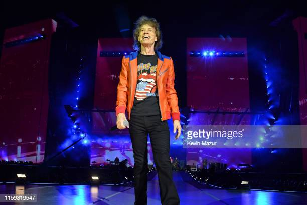 Mick Jagger performs onstage as The Rolling Stones kick off the North American run of their 'NO FILTER' Tour at Soldier Field in Chicago IL on Friday...