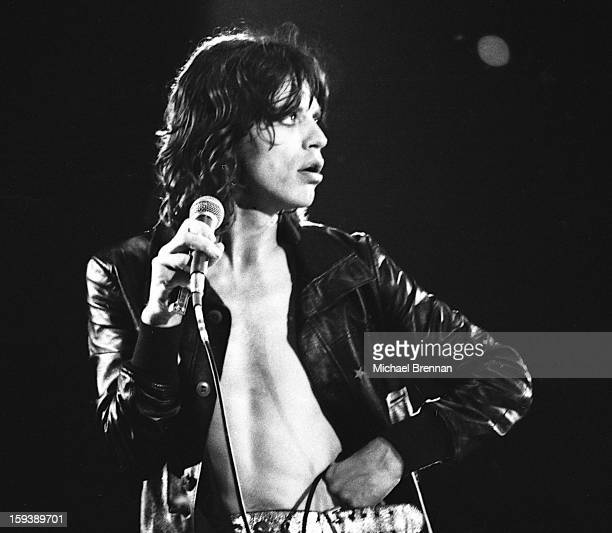 Mick Jagger performs with the Rolling Stones at The San Antonio Convention Center Texas 6th March 1975