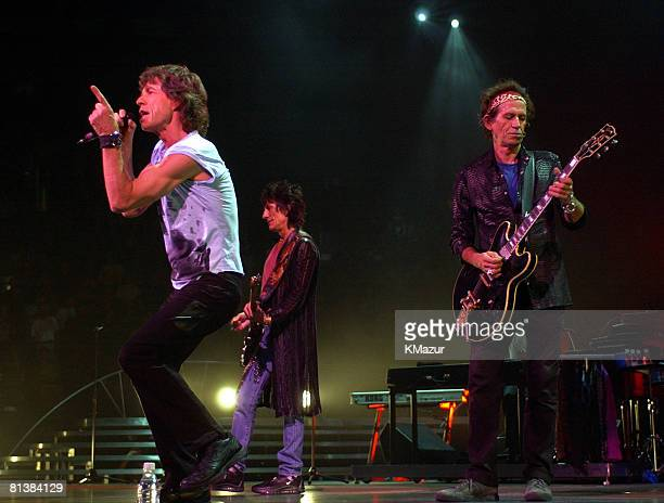 Mick Jagger Ronnie Wood and Keith Richards of the Rolling Stones