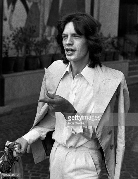 Mick Jagger sighted on March 15 1974 at the Beverly Wilshire Hotel in Beverly Hills California
