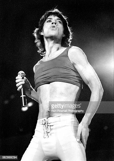 MIck Jagger The Rolling Stones performing at the Hartford Civic Center Nov 9 1981