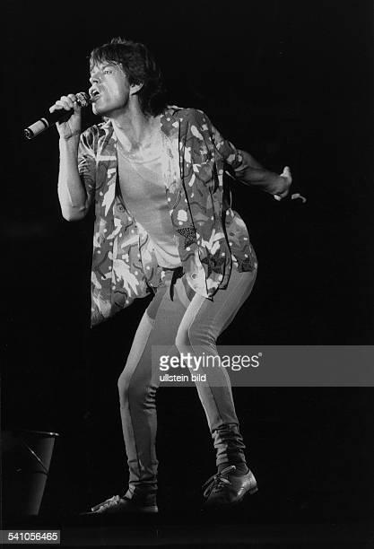 Mick Jagger*Musiker Saenger Grossbritannien Saenger der Rockgruppe Rolling StonesKonzert im Berliner Olympiastadion 1982