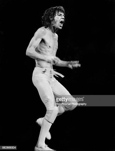 MIck Jagger/Rolling Stones performing at the Hartford Civic Center Nov 91981