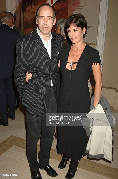 Mick Jones and his wife attends the private view for Julian Schnabel's Pintura Del Figlo XXI his first show in 6 years at 38 Dover Street on October...