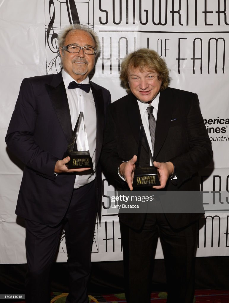 Mick Jones and Lou Gramm of Foreigner attend the Songwriters Hall of Fame 44th Annual Induction and Awards Dinner at the New York Marriott Marquis on June 13, 2013 in New York City.