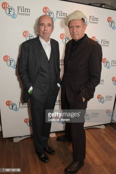"""Mick Jones and Paul Simonon attend the BFI Southbank's screening of Don Letts'""""The Clash: Westway To The World"""" on December 14, 2019 in London,..."""