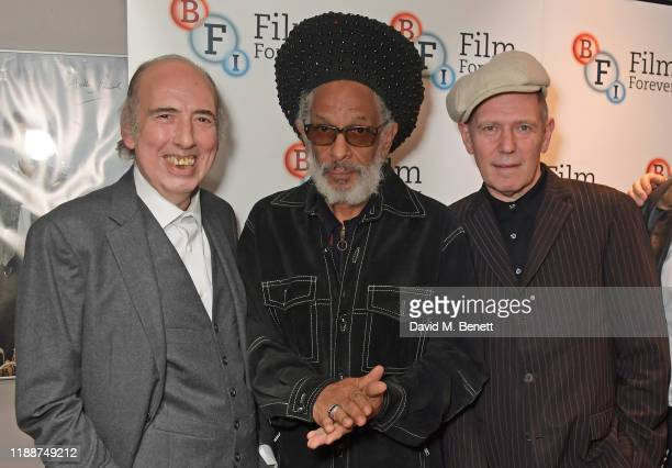 """Mick Jones, Don Letts and Paul Simonon attend the BFI Southbank's screening of Don Letts'""""The Clash: Westway To The World"""" on December 14, 2019 in..."""