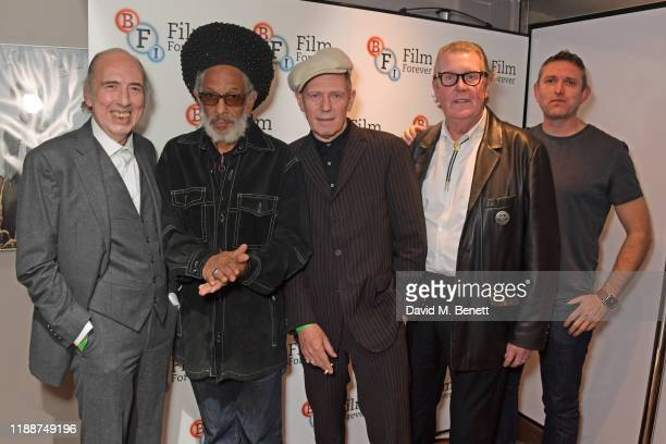 Mick Jones, Don Letts, Paul Simonon, Road Manager for The Clash Johnny Green and BFI Head of Programme and Acquisitions Stuart Brown attend the BFI...