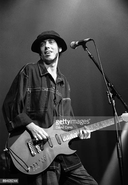 Mick Jones of Big Audio Dynamite and formerly The Clash performs onstage at The Ritz on April 24, 1992 in New York City, New York.
