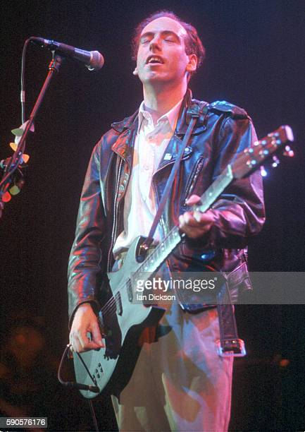 Mick Jones of Big Audio Dynamite performing on stage at Hammersmith Odeon, London 29 April 1994.