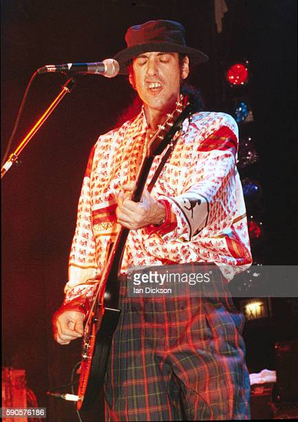 Mick Jones of Big Audio Dynamite performing on stage at Town & Country Club, Kentish Town, London 31 January 1992.