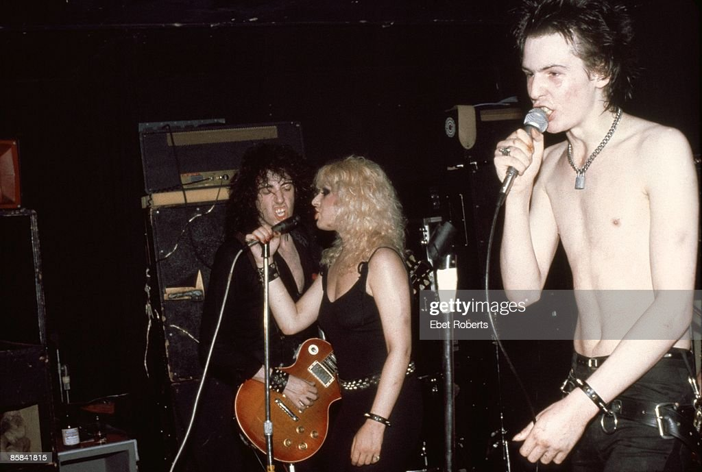 Mick Jones of The Clash, Nancy Spungen and Sid Vicious (formerly of the Sex Pistols) live at Max's Kansas City, New York on 7th September 1978.