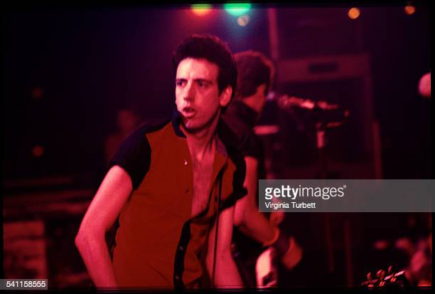 Mick Jones of The Clash performs on stage at Hammersmith Palais, London, United Kingdom, 17 June 1980.