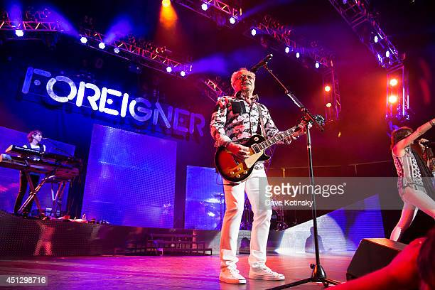 Mick Jones of the group Foreigner performs at Prudential Center on June 26 2014 in Newark New Jersey