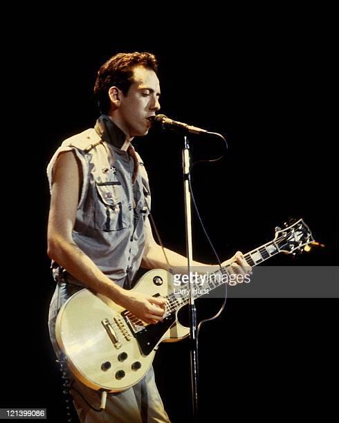 Mick Jones performs at the Memorial Auditorium in Sacramento, California on November 22, 1983.