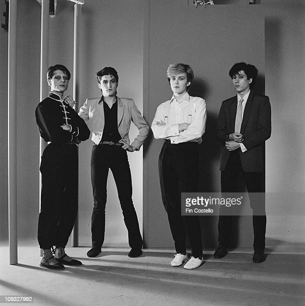 Mick Karn Steve Jansen David Sylvian and Richard Barbieri of Japan in London England in November 1981